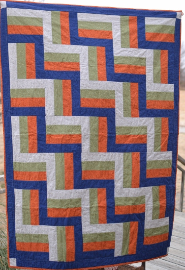 Dad's Rail Fence Quilt