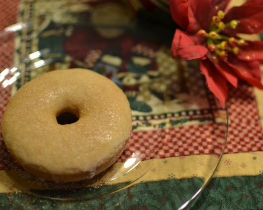 Eggnog Doughnuts