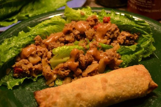 Chicken Lettuce Wraps with Two Sauces