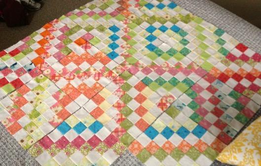 Happy scrappy quilt!